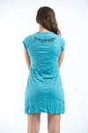 Womens Ganesh Mantra Dress in Turquoise