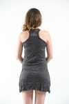 Sure Design Womens Infinitee Ohm Tank Dress Silver on Black
