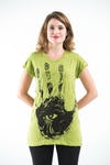 Sure Design Womens  T-Shirt Eye In Palm Lime