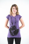 Sure Design Womens  T-Shirt Eye In Palm Purple