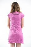 Womens Weed Owl Dress Pink