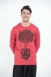 Sure Design Unisex Celtic Tree Long Sleeve Shirt Red