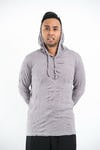 Sure Design Unisex Solid Hoodie Gray