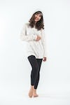 Unisex Solid Color Hoodie in White