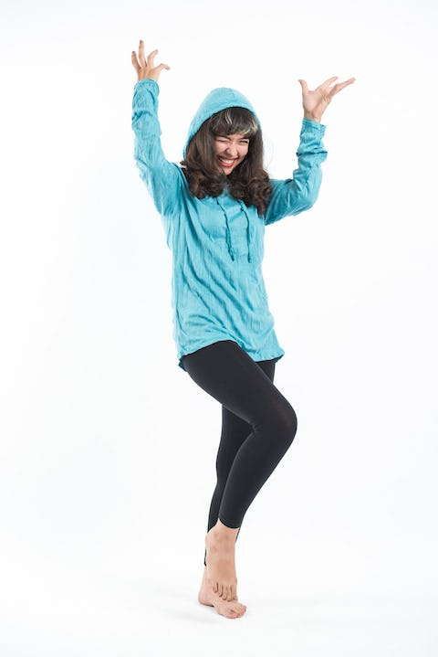 Unisex Solid Color Hoodie in Turquoise