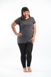 Plus Size Women's Solid T-Shirt Black