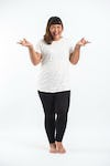 Plus Size Women's Solid T-Shirt White