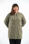 Plus Size Unisex Solid Hoodie Green