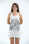 Sure Design Womens Ohm and Koi fish Tank Dress White