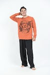 Sure Design Unisex Ohm and Koi Fish Long Sleeve Shirt Orange