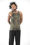 Sure Design Mens Wild Elephant Tank Top Green