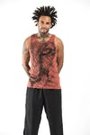 Sure Design Mens Lions Eye Tank Top Brick