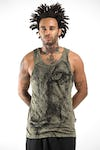 Sure Design Mens Lions Eye Tank Top Green