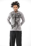 Sure Design Unisex Lions Eye Hoodie Gray