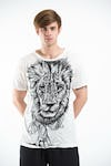 Sure Design Mens Lion King T-Shirt White