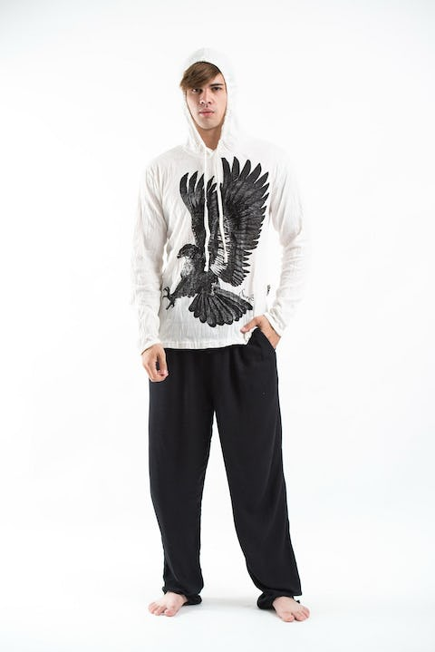 Unisex Eagle Hoodie in White