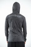 Sure Design Unisex Infinity Om Hoodie Silver on Black