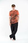 Sure Design Mens Leopard T-Shirt Orange