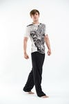 Sure Design Mens Leopard T-Shirt White