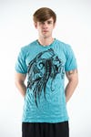 Sure Design Mens Indian Chief T-Shirt Turquoise