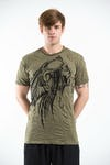 Sure Design Mens Indian Chief T-Shirt Green