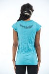 Womens Om hands T-Shirt in Turquoise
