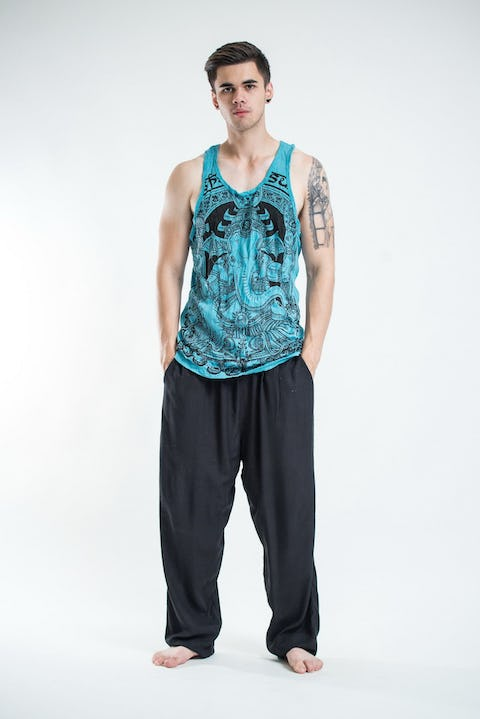 Sure Design Mens Batman Ganesh Tank Top Turquoise