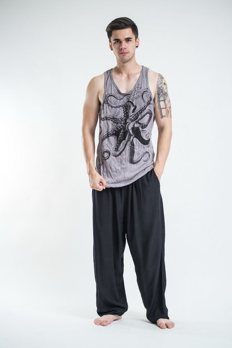 Sure Design Mens Octopus Tank Top Gray