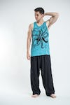 Sure Design Mens Octopus Tank Top Turquoise