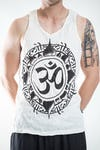Sure Design Mens Infinitee Ohm Tank Top White