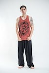Sure Design Mens Infinitee Ohm Tank Top Brick