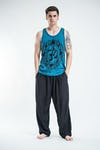 Sure Design Mens Infinitee Ohm Tank Top Denim Blue