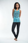 Sure Design Womens Dreamcatcher Tank Top Turquoise