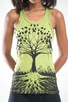 Sure Design Womens Tree of Life Tank Top Lime