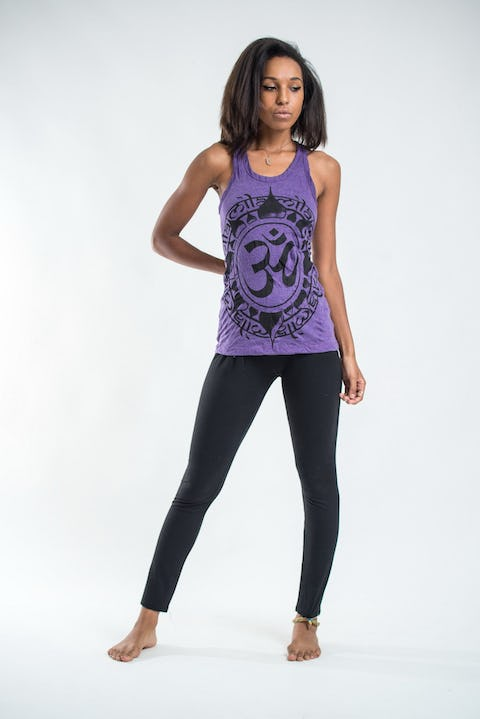 Sure Design Womens Infinitee Ohm Tank Top Purple