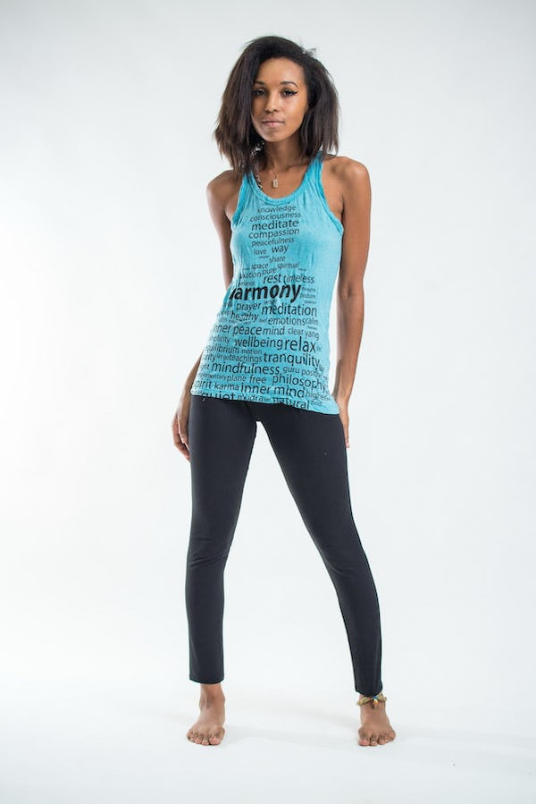 Womens Harmony Tank Top in Turquoise