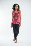 Sure Design Womens Three Hands Tank Top Red