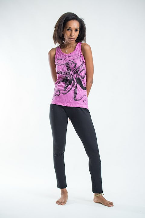 Sure Design Womens Octopus Tank Top Pink