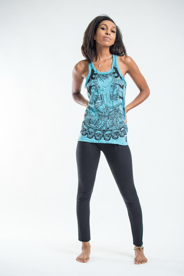 Womens Batman Ganesh Tank Top in Turquoise