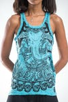 Sure Design Womens Batman Ganesh Tank Top Turquoise