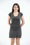 Womens Lotus Mandala Dress in Black