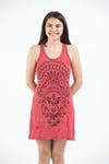 Sure Design Womens Durga Tank Dress Red