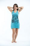 Sure Design Womens Ohm and Koi fish Tank Dress Turquoise
