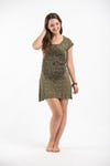 Sure Design Womens Lotus Mandala Dress Green