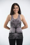 Sure Design Womens Tree Of Life Tank Top Grey