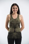 Sure Design Womens Tree Of Life Tank Top Green