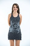 Sure Design Womens Ohm and Koi fish Tank Dress Silver on Black