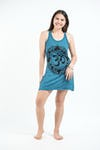 Sure Design Womens Infinitee Ohm Tank Dress Denim Blue