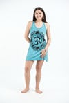Womens Infinitee Om Tank Dress in Turquoise