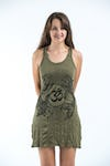 Sure Design Womens Ohm and Koi Fish Tank Dress Green
